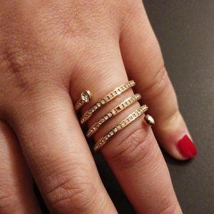 Michael Kors spiral ring/rose Goldtone
